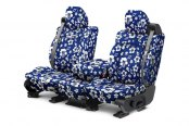 Image may not reflect your exact vehicle! CalTrend® - Front NeoSupreme Hawaiian Blue Custom Seat Covers