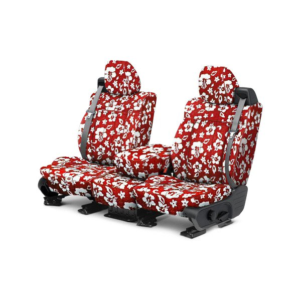 CalTrend® - 1st Row NeoSupreme Hawaiian Red Custom Seat Covers
