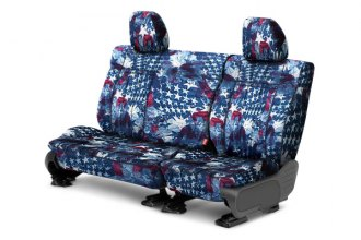 CalTrend® - 2nd Row NeoSupreme American Flag Custom Seat Covers