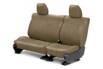 Image may not reflect your exact vehicle! CalTrend® - 2nd Row NeoSupreme Beige Custom Seat Covers