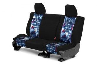 CalTrend® - 2nd Row NeoSupreme Black & American Flag Custom Seat Covers