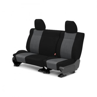 CalTrend� - Rear Row NeoSupreme Black with Charcoal Custom Seat Covers