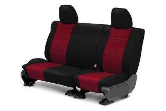 CalTrend® - 2nd Row NeoSupreme Black & Red Custom Seat Covers