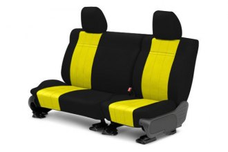 CalTrend® - 2nd Row NeoSupreme Black & Yellow Custom Seat Covers