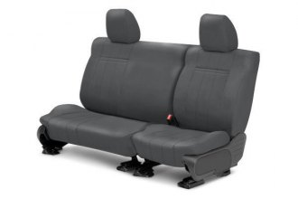 Image may not reflect your exact vehicle! CalTrend® - 2nd Row NeoSupreme Charcoal Custom Seat Covers