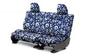 Image may not reflect your exact vehicle! CalTrend® - 2nd Row NeoSupreme Hawaiian Blue Custom Seat Covers