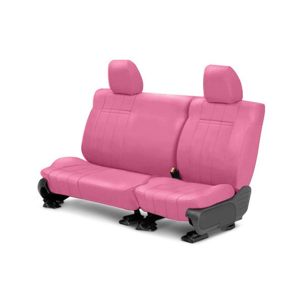 Image may not reflect your exact vehicle! CalTrend® - Rear NeoSupreme Pink Custom Seat Covers