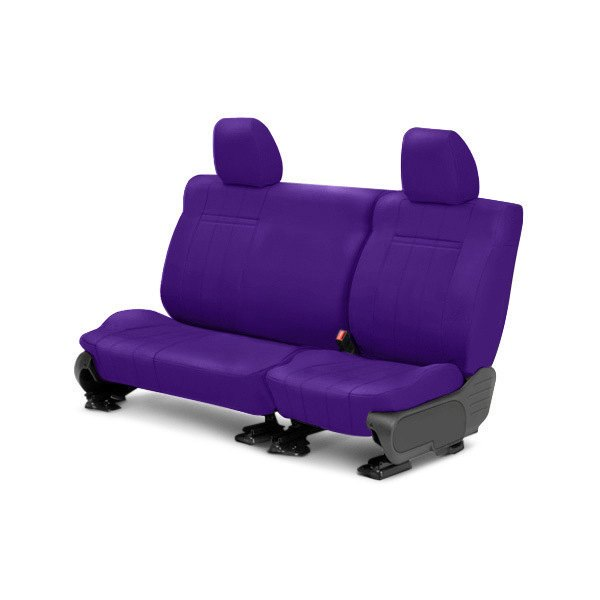 Image may not reflect your exact vehicle! CalTrend® - Rear NeoSupreme Purple Custom Seat Covers