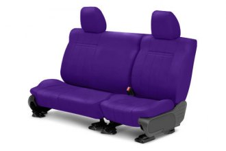 Image may not reflect your exact vehicle! CalTrend® - 2nd Row NeoSupreme Purple Custom Seat Covers