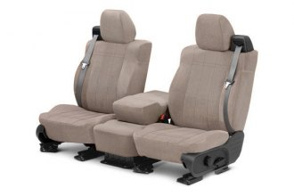 CalTrend® HD393-01RA - Front Row O.E. Velour Black Classic Trim with Classic Insert Custom Seat Covers