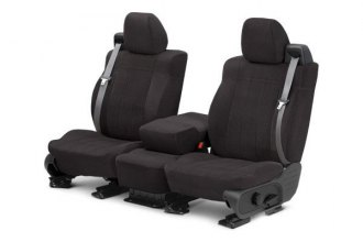 CalTrend® - 1st Row O.E. Velour Charcoal Classic Trim & Classic Insert Custom Seat Covers