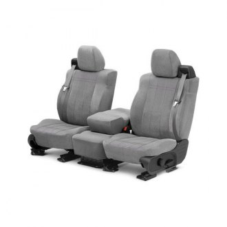 CalTrend� - Velour Gray with Classic Insert Custom Seat Covers