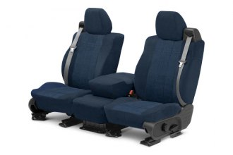 CalTrend® CV421-03RR - Front Row O.E. Velour Charcoal Classic Trim with Premier Insert Custom Seat Covers