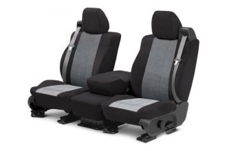 CalTrend® TY223-08RR - Front Row O.E. Velour Light Gray Classic Trim with Premier Insert Custom Seat Covers