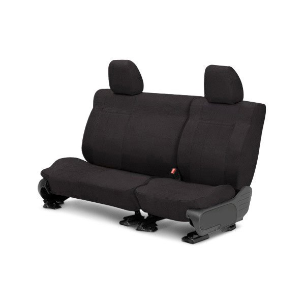 CalTrend® - 2nd Row O.E. Velour Charcoal Classic Trim & Classic Insert Custom Seat Covers