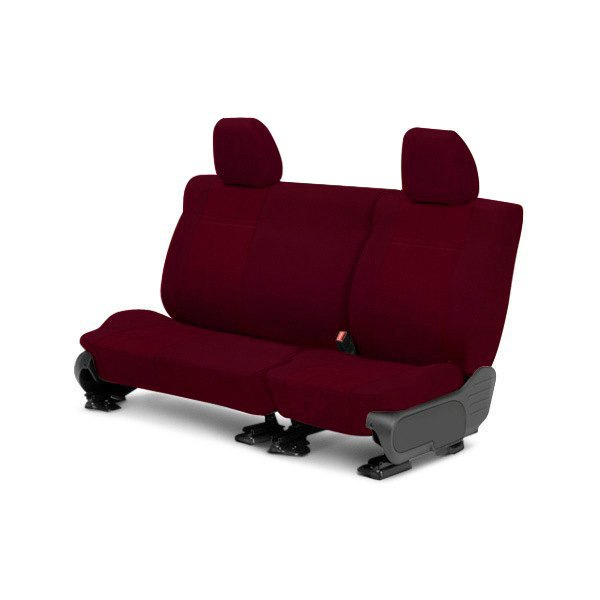 CalTrend® - 3rd Row O.E. Velour Red Classic Trim & Classic Insert Custom Seat Covers