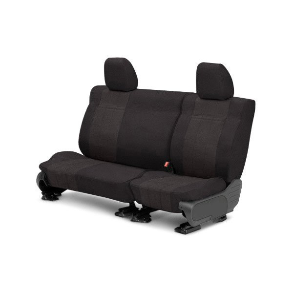 CalTrend® - 2nd Row O.E. Velour Charcoal Classic Trim & Monarch Insert Custom Seat Covers