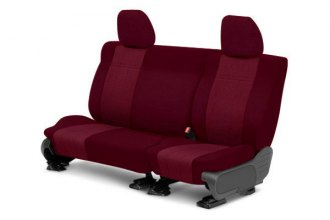 CalTrend® - 3rd Row O.E. Velour Red Classic Trim & Monarch Insert Custom Seat Covers