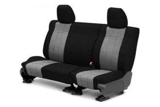 CalTrend® - 2nd Row O.E. Velour Black Classic Trim & Premier Insert Custom Seat Covers