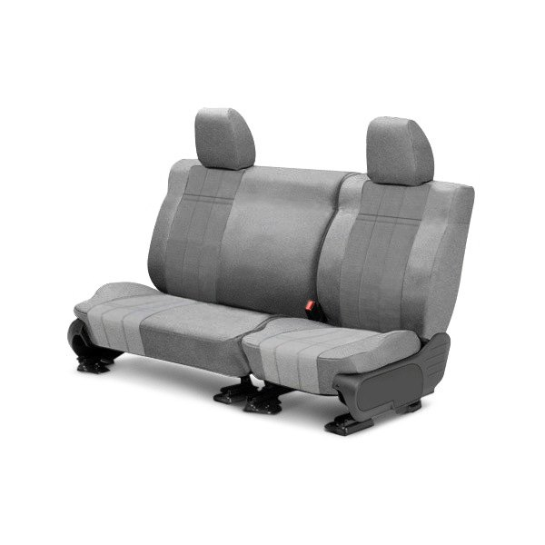 CalTrend® - 2nd Row O.E. Velour Light Gray Classic Trim & Premier Insert Custom Seat Covers