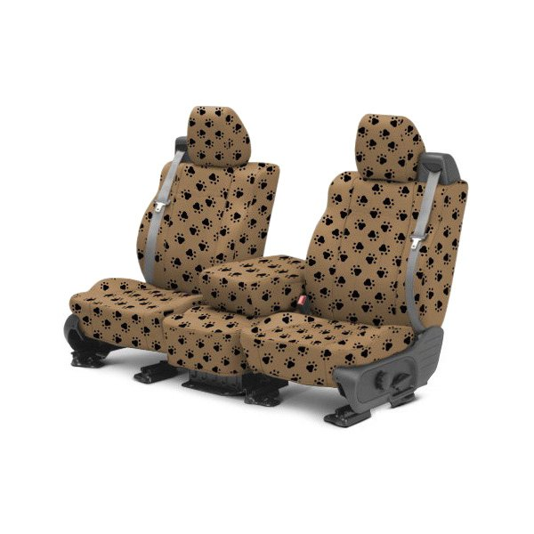 CalTrend® - 1st Row Pet Print Beige Custom Seat Covers