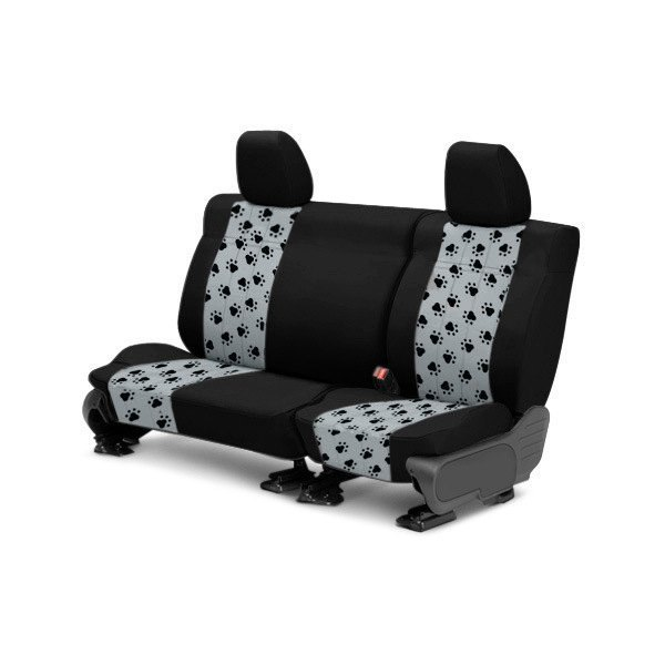 CalTrend® - 2nd Row Pet Print Black & Light Gray Custom Seat Covers