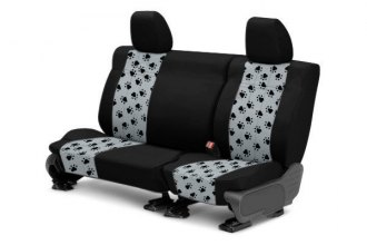 CalTrend® FD434-08AA - Rear Row Pet Print Black with Light Gray Custom Seat Covers