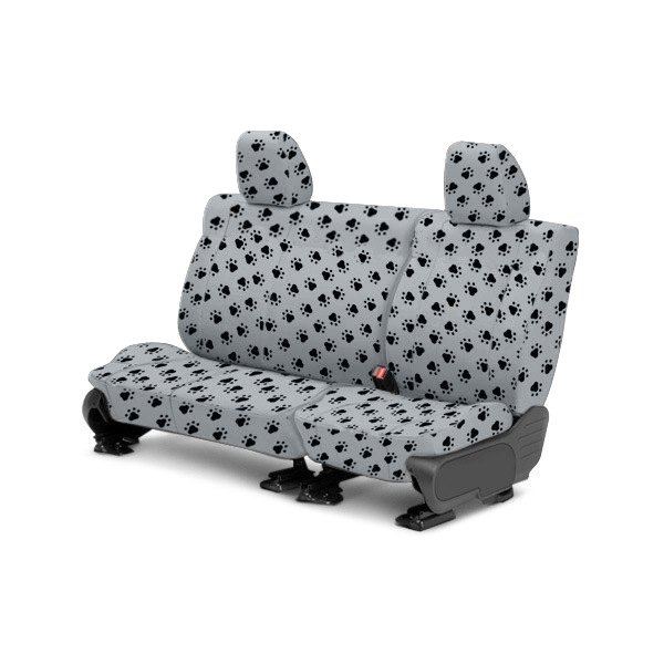CalTrend® - 2nd Row Pet Print Light Gray Custom Seat Covers