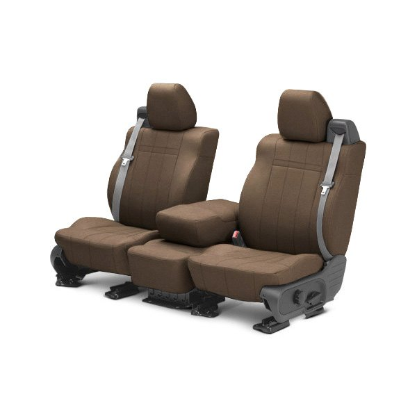 Image may not reflect your exact vehicle! CalTrend® - Front SportsTex Beige Custom Seat Covers