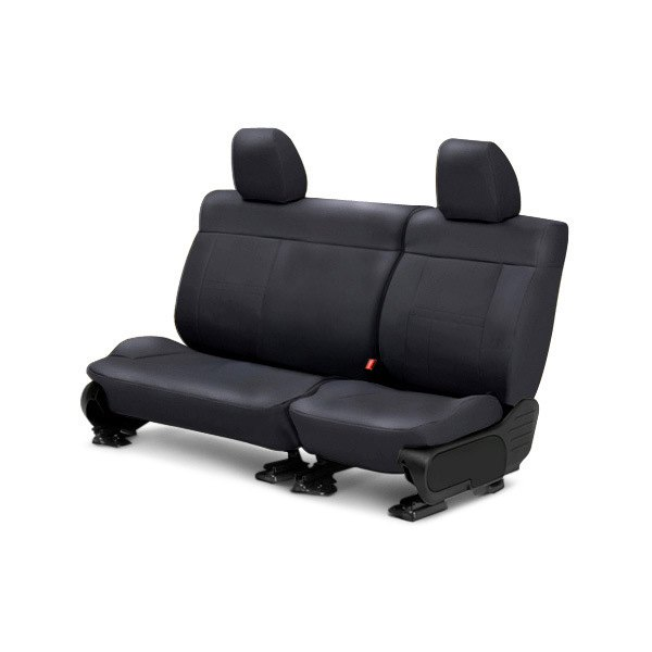 Image may not reflect your exact vehicle! CalTrend® - Center SportsTex Charcoal Custom Seat Covers