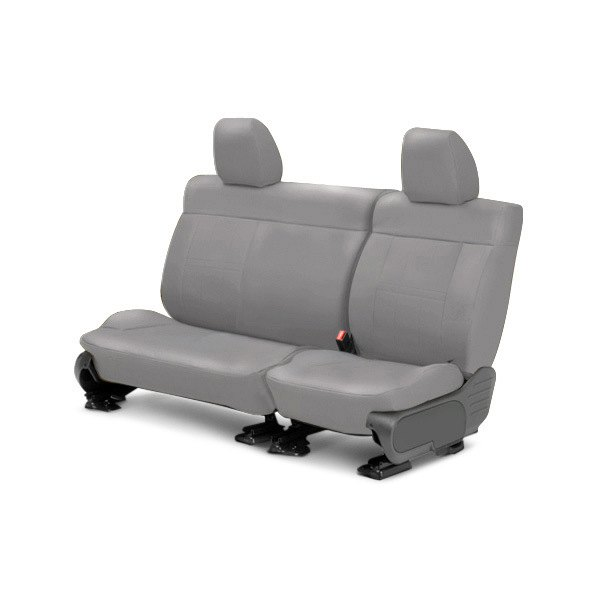 Image may not reflect your exact vehicle! CalTrend® - Center SportsTex Light Gray Custom Seat Covers