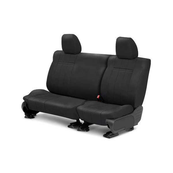 Image may not reflect your exact vehicle! CalTrend® - Rear SportsTex Charcoal Custom Seat Covers