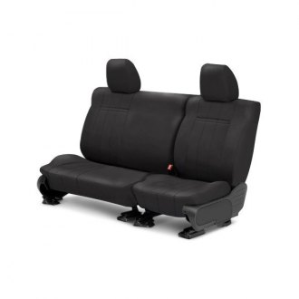 CalTrend� - Rear Row SportsTex Gray Custom Seat Covers