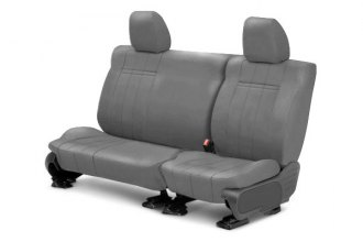 Image may not reflect your exact vehicle! CalTrend® - 2nd Row SportsTex Light Gray Custom Seat Covers