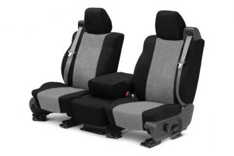 CalTrend® TY515-08SP - Front Row SuperSuede Black with Light Gray Custom Seat Covers