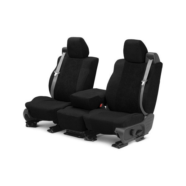 CalTrend® - SuperSuede 1st Row Black Custom Seat Covers