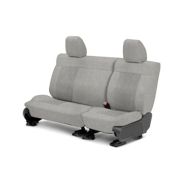 Image may not reflect your exact vehicle! CalTrend® - Center SuperSuede Light Gray Custom Seat Covers