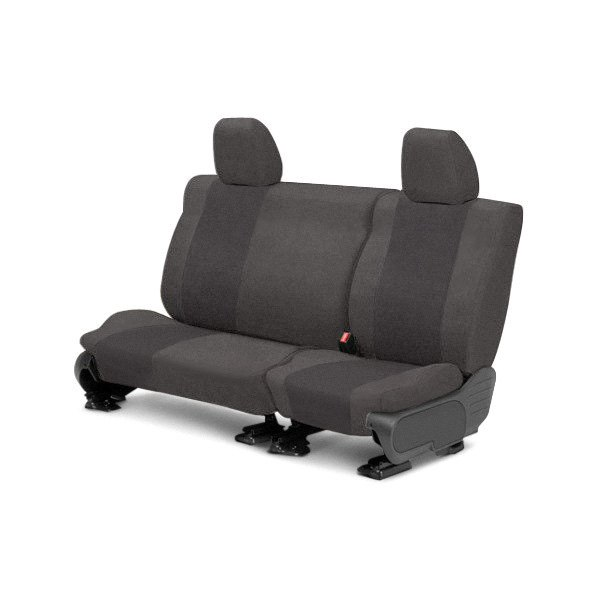 Image may not reflect your exact vehicle! CalTrend® - Rear SuperSuede Charcoal Custom Seat Covers