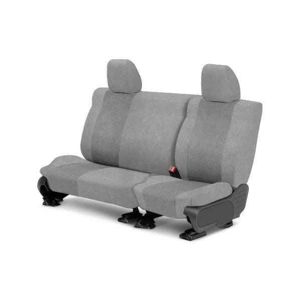 Image may not reflect your exact vehicle! CalTrend® - 2nd Row SuperSuede Light Gray Custom Seat Covers