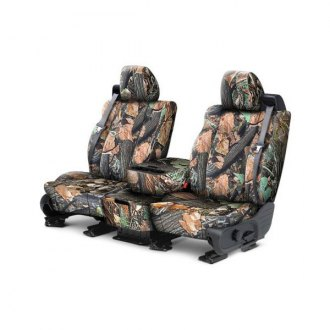 CalTrend® - Front Row Tough Camo Wood Custom Seat Covers