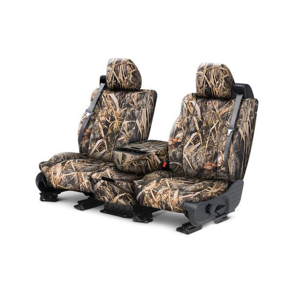 CalTrend® - Tough Camo 1st Row Marsh Custom Seat Covers