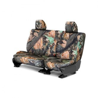 CalTrend® - Rear Row Tough Camo Wood Custom Seat Covers