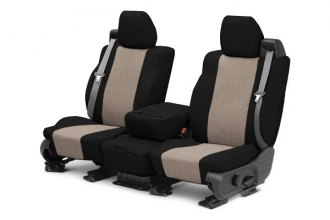 CalTrend® SU106-06TT - Front Row Tweed Black with Beige Custom Seat Covers