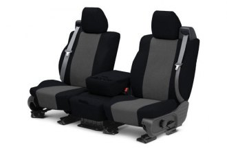 CalTrend® FD433-03TT - Front Row Tweed Black with Charcoal Custom Seat Covers