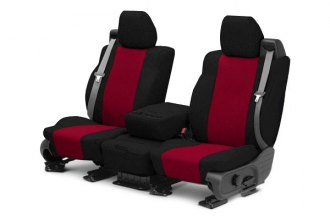 CalTrend® SU141-02TT - Front Row Tweed Black with Red Custom Seat Covers