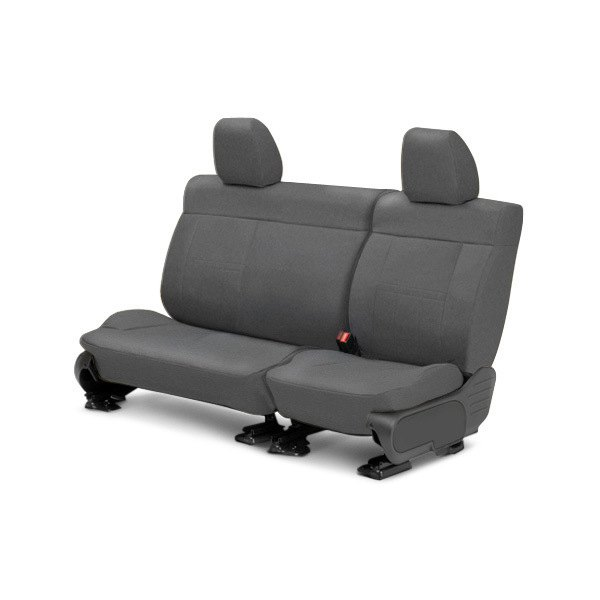 Image may not reflect your exact vehicle! CalTrend® - Center Tweed Light Gray Custom Seat Covers
