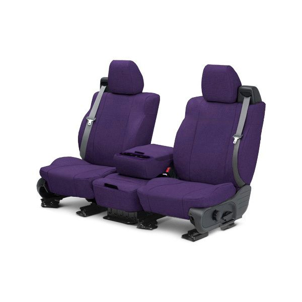 Image may not reflect your exact vehicle! CalTrend® - 1st Row Tweed Purple Custom Seat Covers