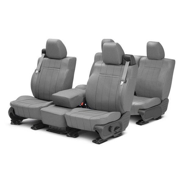 Image may not reflect your exact vehicle! CalTrend® - Leather Custom Seat Covers