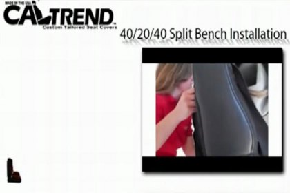 CalTrend® - 40/20/40 Custom Seat Covers Installation Video 602x420