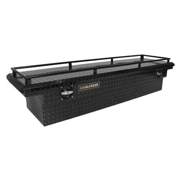 Cam-Locker® - Matte Black Low Profile Single Lid Crossover Tool Box with Rail